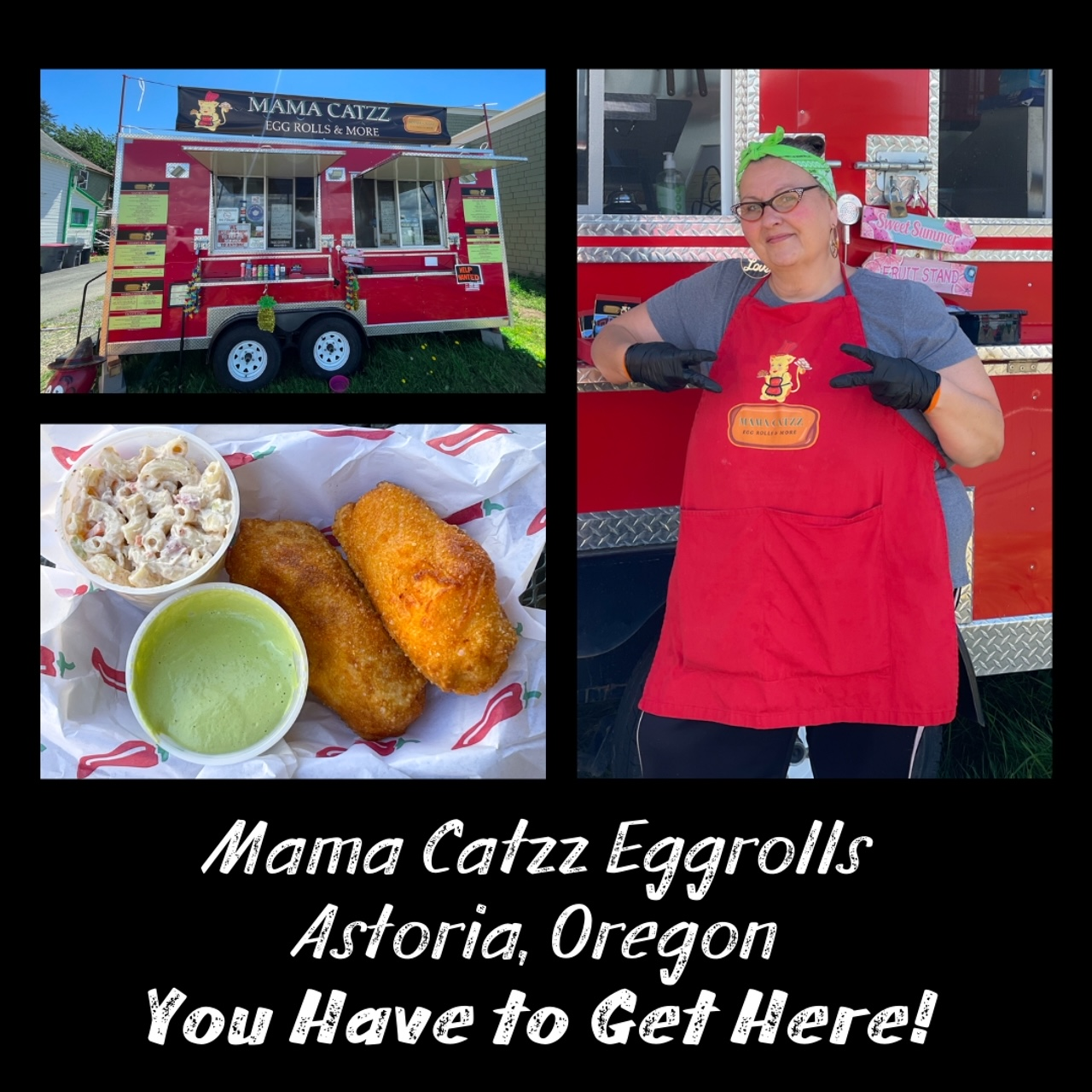 Mama Catzz Eggrolls an More Astoria, Oregon on the Oregon Coast - You Have to Get Here! Culinary Treasure Network